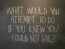 What would you attempt to do if you knew you could not fail?